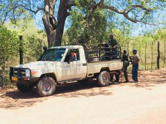 Anti-poaching squad, feeling like the PM with an escort like this